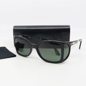 0005 95/31 Persol Black/ Green Women's Sunglasses